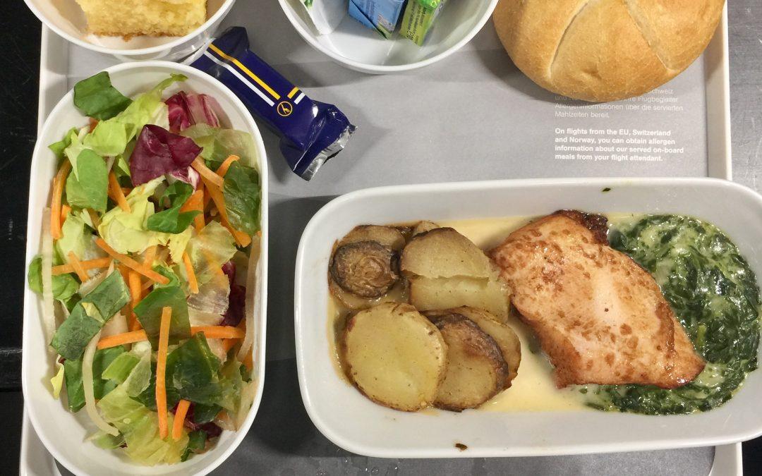 Gesund Essen im Flugzeug